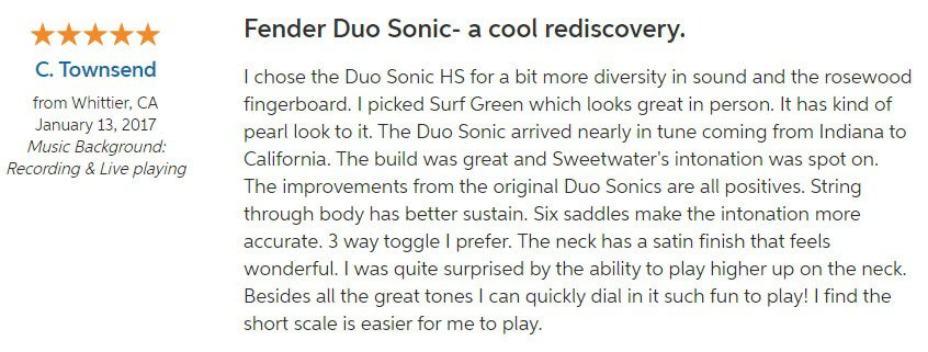 Fender Duo Sonic Hs Review 2